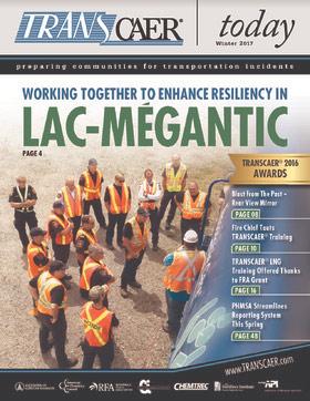 L'événement TRANSCAER de l'été dernier tenu à Lac-Mégantic fait la première page du magazine américain TRANCAER today.