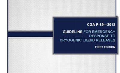La Compressed Gas Association (CGA) publie le document P-69 « Guide d'Intervention d'Urgences pour les Déversements de Liquides Cryogéniques »