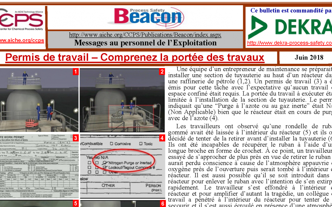 Bulletin BEACON – Juin 2018