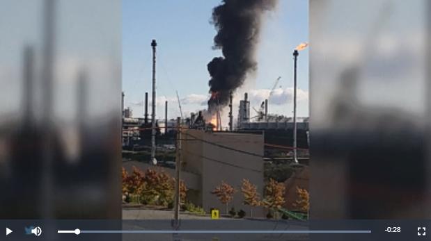 Explosion à la raffinerie d'Irving au Nouveau-Brunswick