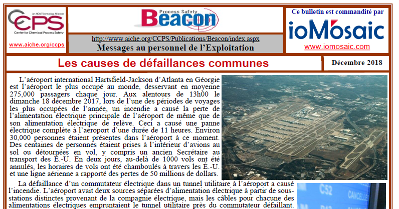 Bulletin BEACON – Décembre 2018
