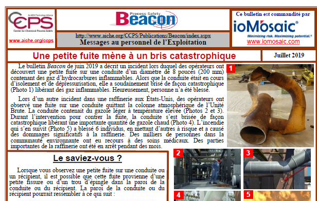 Bulletin BEACON -Juillet 2019