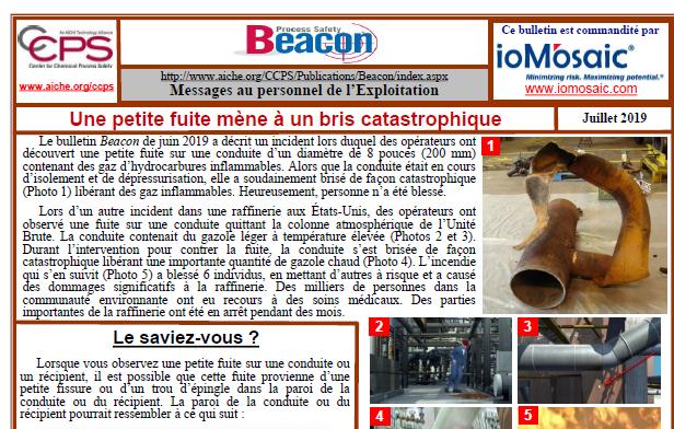 Bulletin BEACON -Juillet 2019