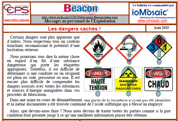 Bulletin BEACON – Août 2019
