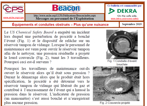 Bulletin BEACON – Septembre 2019