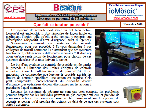 Bulletin BEACON – Novembre 2019