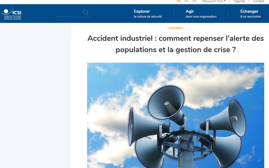 Accident industriel : comment repenser l'alerte des populations et la gestion de crise ?